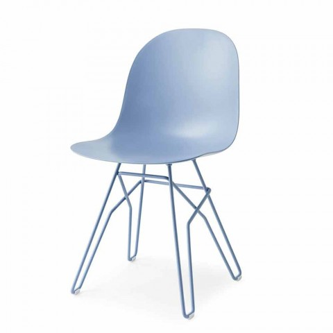 Connubia Calligaris Academy modern design chair made in Italy, 2 pcs