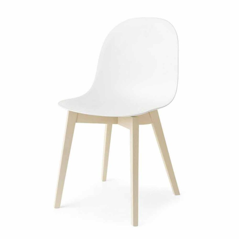 Connubia Calligaris Academy basic design chair in solid wood, 2 pieces