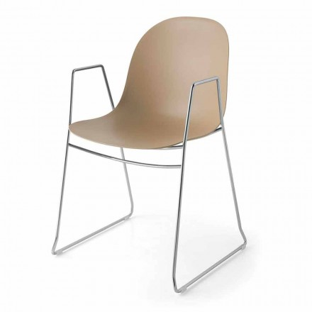 Connubia Calligaris Academy modern polypropylene chair, set of 2