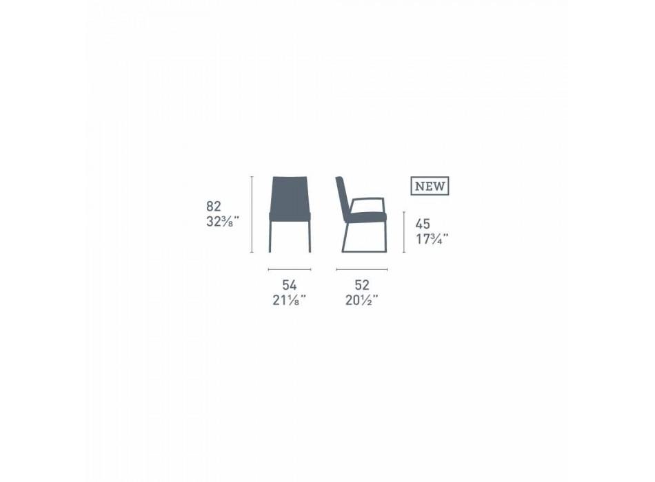 Connubia Calligaris Academy modern chair in polypropylene, 2 pieces