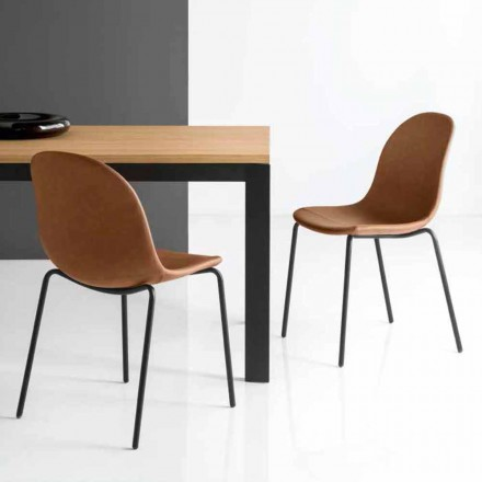 Connubia Calligaris Academy vintage chair, set of 2, made in Italy