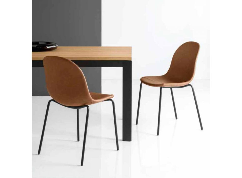 Connubia Calligaris Academy vintage chair design Made in Italy, 2 pcs