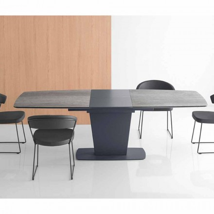 Connubia Calligaris Athos extendable ceramic dining table 200 cm