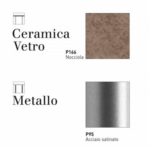 Tavolo Allungabile Vetro Satinato.Connubia Calligaris Baron Extending Table Glass Ceramics L130 190 Cm