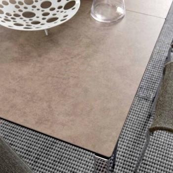 Connubia Calligaris Baron extendable ceramic-glass table, L130 / 190