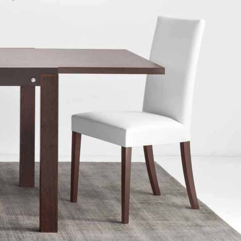 Connubia Calligaris Copenhagen chair in eco-leather and wood, 2 pieces