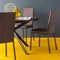 Connubia Garda modern design chair, set of 2, fabric/metal