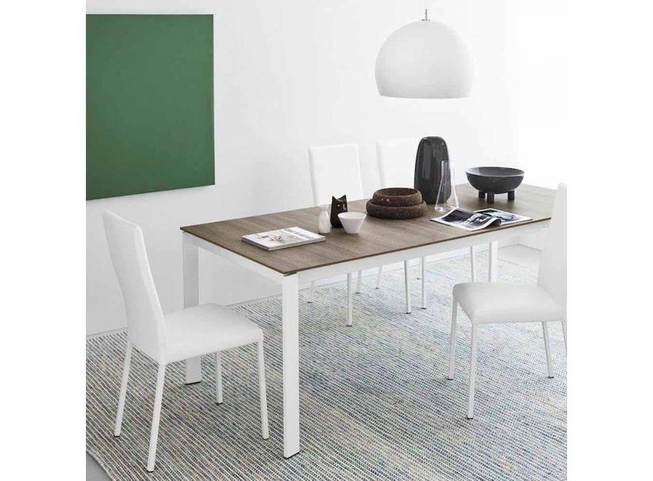 Connubia Calligaris Garda modern fabric and metal chair, 2 pieces
