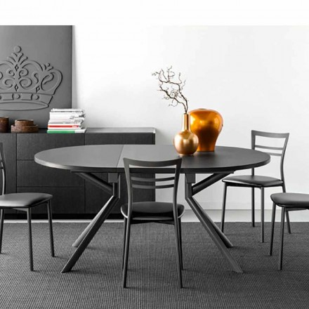 Connubia Calligaris Giove extendable ceramic dining table, L120/165 cm
