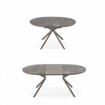 Connubia Calligaris Giove extendable ceramic table, L120 / 165 cm