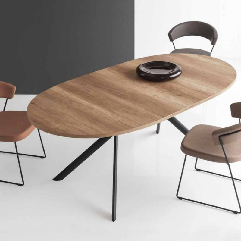 Connubia Calligaris Giove extendable oval wooden table, L140 / 190cm