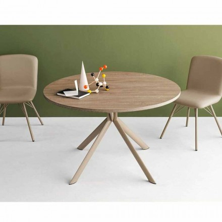 Connubia Calligaris Giove extendable round wooden table, Ø 120 cm