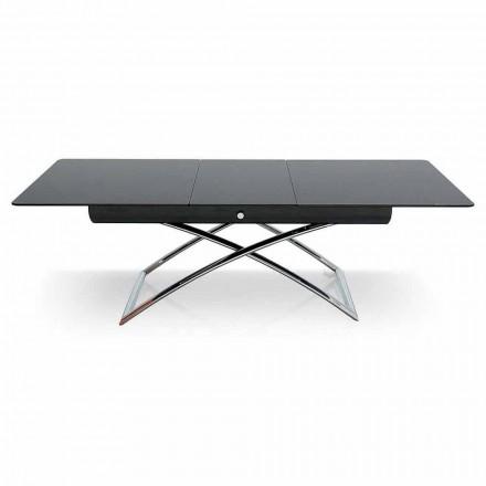 Connubia Calligaris Magic-J adjustable glass coffee table, 115/150 cm