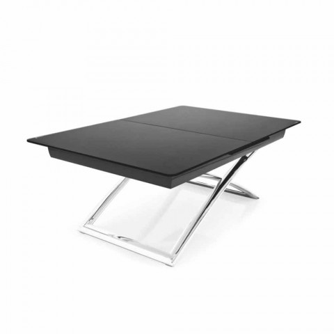 Connubia Calligaris Magic J Adjustable Glass Coffee Table 115150 Cm