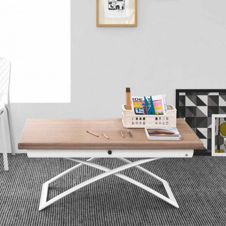 Connubia Calligaris Magic-J adjustable wooden coffee table