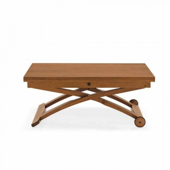 Connubia Calligaris Mascotte wooden coffee table adjustable in height