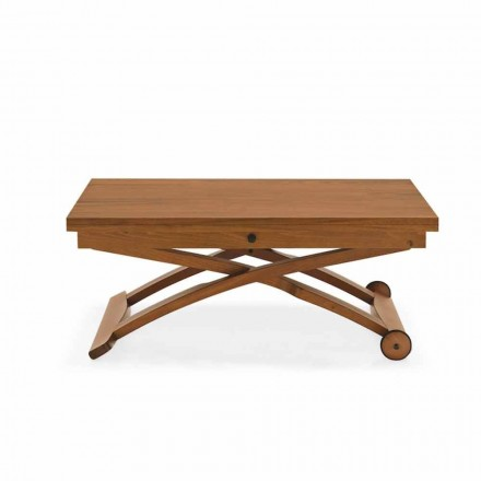 Connubia Calligaris Mascotte wooden coffee table, height-adjustable