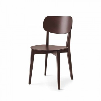 Connubia Calligaris Robinson solid wood chair Made in Italy, 2 pcs