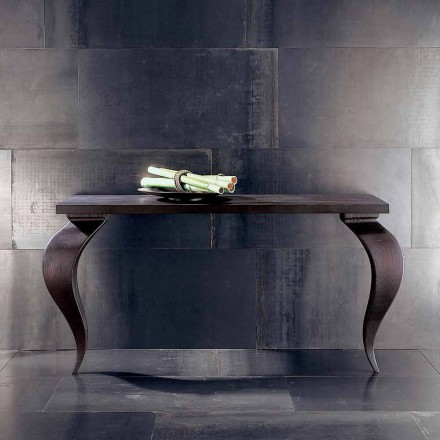 Luxury console table Tino in solid wood 150x50 cm, made in Italy