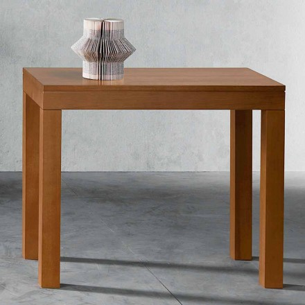 Extendable Console up to 12 seats in Walnut Wood Made in Italy - Picchia