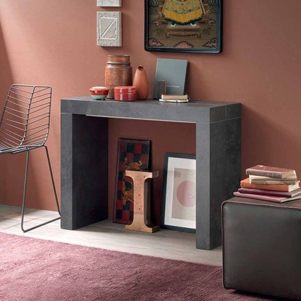 Extendable Table Console Up to 290 cm with Wooden Top Made in Italy - Seregno