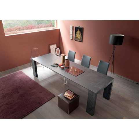 Extendable Console Up to 290 cm with Wooden Top Made in Italy - Seregno