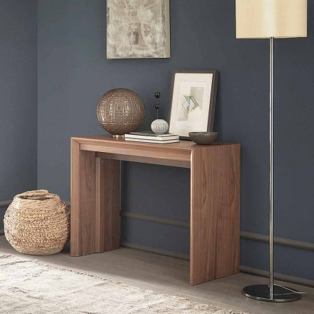 Extendable Table Console Up to 295 cm in Wood Made in Italy Design - Temocle