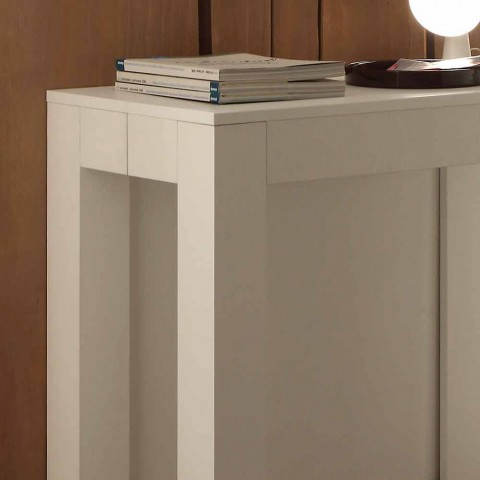 Extensible console in folded folding white open pores Bosa