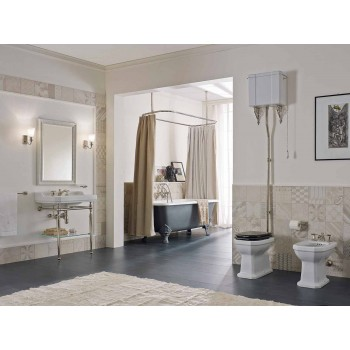 65 cm Ceramic Bathroom Console with Metal Feet Made in Italy Nausica