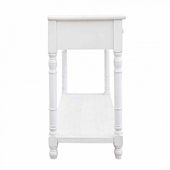 Classic Style Design Mdf Matt White Console Table with 4 Drawers - Ginger