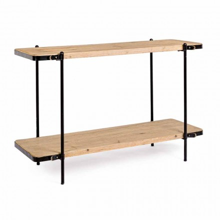 Vintage Design Entrance Console in Steel and Mdf Tops - Caverio