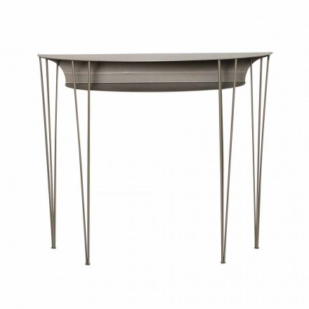 Modern Style Living Room Console in Steel Made in Italy - Adalgiso