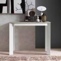 Extendable Table Console in Melamine Wood and Metal Made in Italy - Lionel