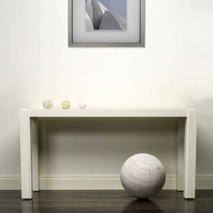 Modern design console in lacquered wood 150x78x40 cm Felicity