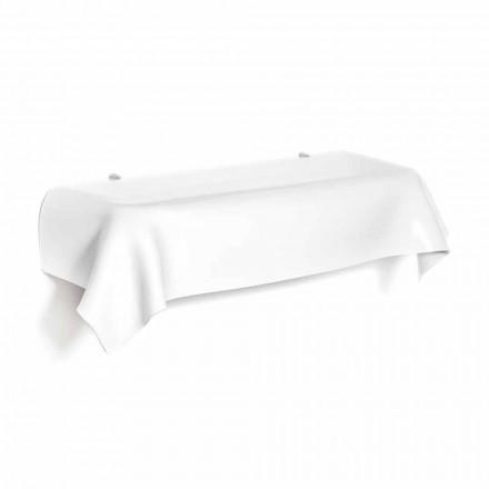 Modern design console table made of white plexiglass Wish