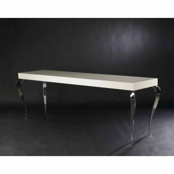 Design console with four legs in MDF and Luigi steel