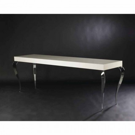 4 legs console table Luigi, MDF and steel