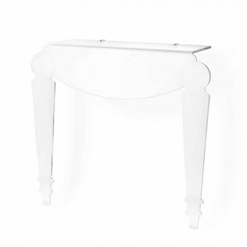 Design console in transparent plexiglass produced in Italy, Africo