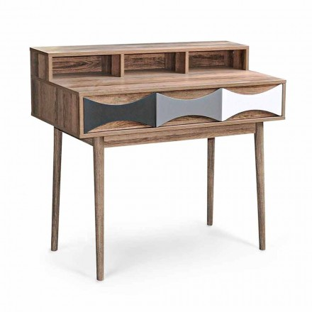 Modern Design Console in Pine Wood and Mdf with 3 Drawers - Aruspice