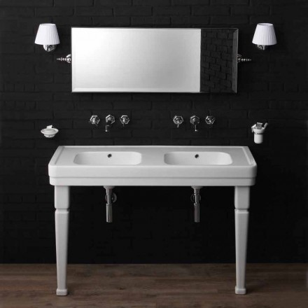 Double console on ceramic legs vintage style 900 'Serenity