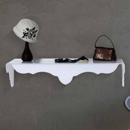 Wall-fixed console table with a modern design Bianca, white color