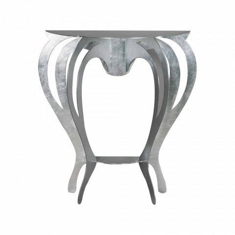 Console in Colored Iron of Modern Design Made in Italy - Barbata