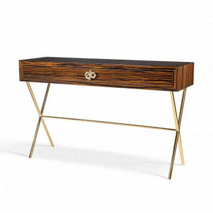 Modern console table Ada 4, with sliding drawers,made of glossy ebony