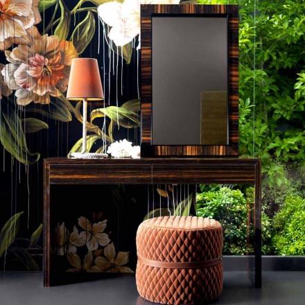 Grilli Zarafa modern design ebony wood console 100 % made in Italy