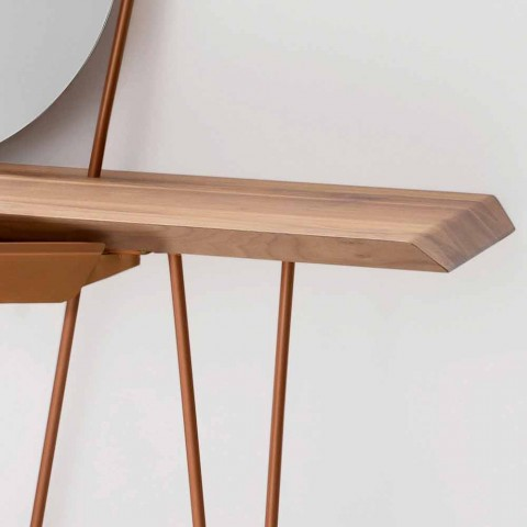 Modern Wooden and Metal Console Made in Italy - Coseno Plus