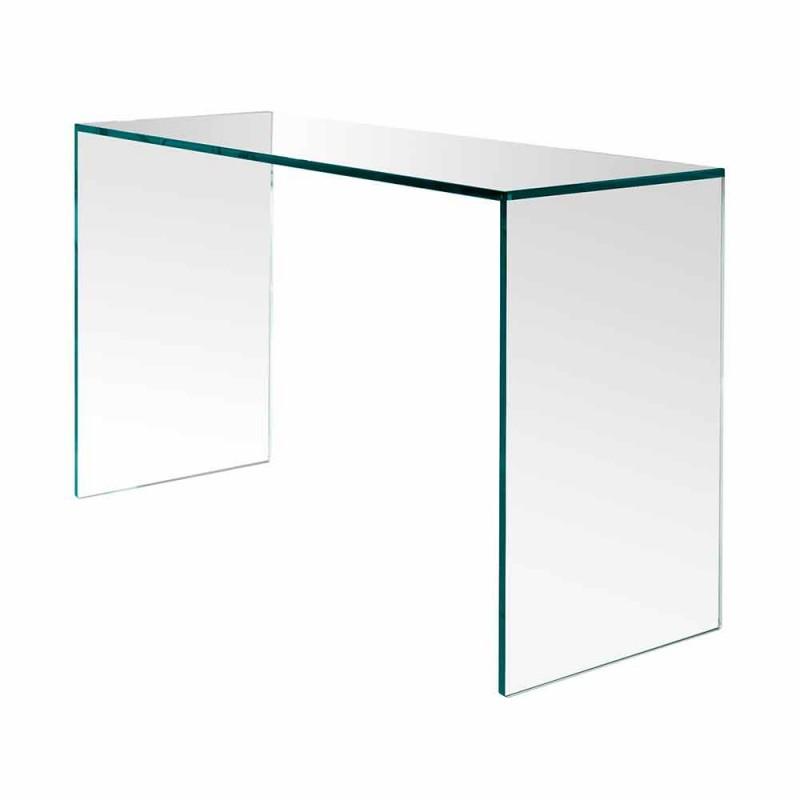 Console in Extra-clear Glass Elegant Minimal Design 2 Dimensions - Selex
