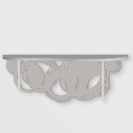 Modern Design Console in Sand and Beige Wood for Wall Mounting - Orbit