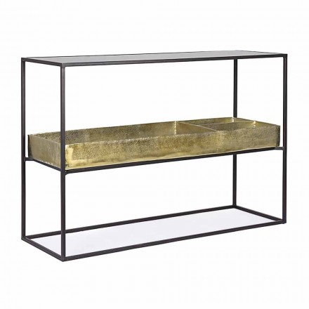 Industrial Design Console in Steel and Glass Homemotion - Malpensa