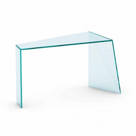 Modern Entrance Consolle in Extraclear Glass Made in Italy - Rosalia
