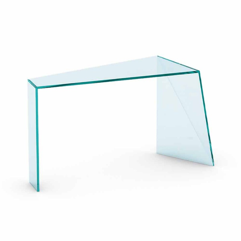 Console for Modern Entrance in Extralight Glass Made in Italy - Rosalia